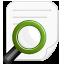 icona lente con foglio