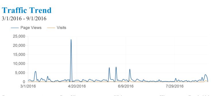 grafico cartesiano traffico visitatori sito